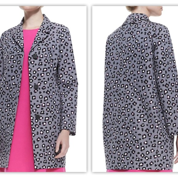 Kate Spade Printed Cyber Cheetah Feti Coat